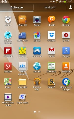 Samsung Galaxy Note 8.0 TouchWizz