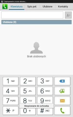 Samsung Galaxy Note 8.0 Dialer