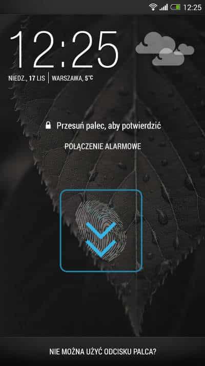 HTC One Max Linie papilarne