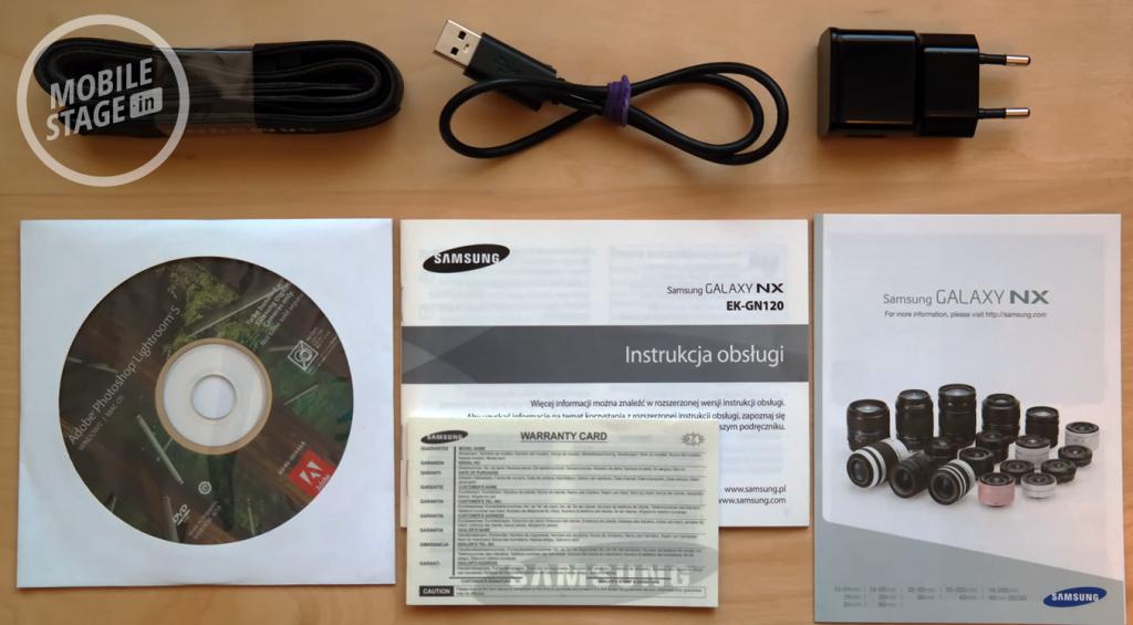 Samsung GALAXY NX - zawartość opakowania 1