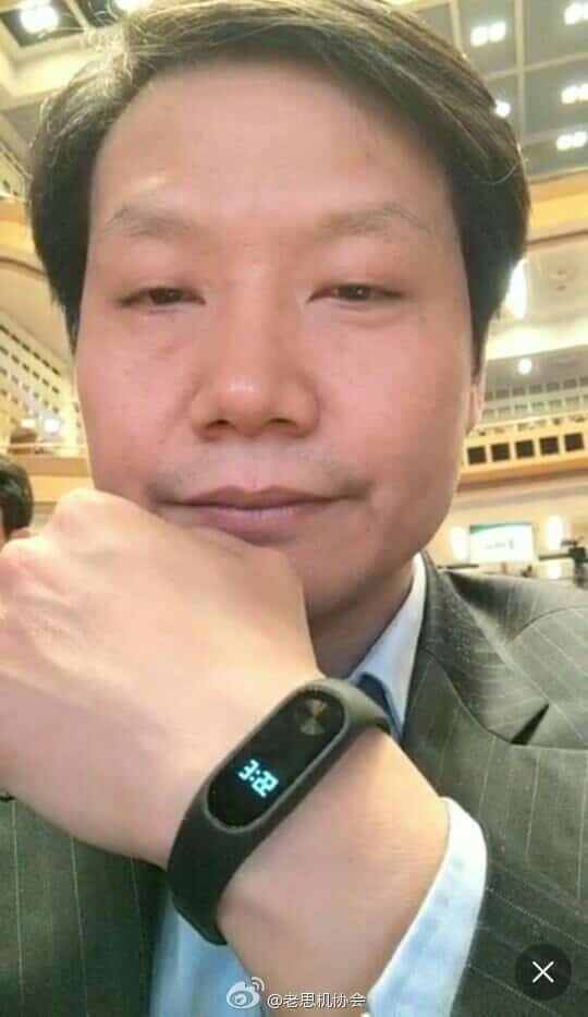 Xiaomi CEO z Mi Band 2